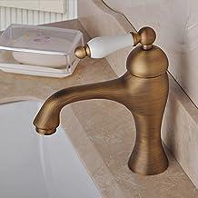 Grifos lavabo laton envejecido for Amazon lavabos
