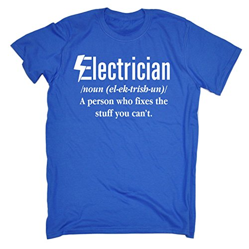 123t Men's Electrician Fixes The Stuff You Can't - T-Shirt Funny Christmas Casual Birthday Tee