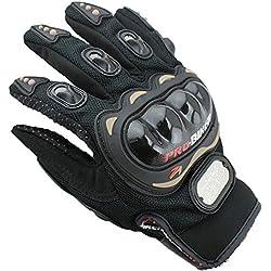 DP Design® mixte Gants de moto avec protections moto motocross enduro armée noirs