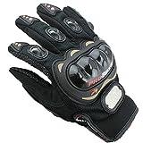 DP Design Handschuhe Moto Unisex mit Knöchelprotektor Motorrad Motocross Enduro Schwarz