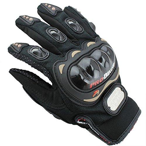 DP Design® Guantes de moto Unisex con protectores Nudillos Motociclismo Motocross Enduro Negros
