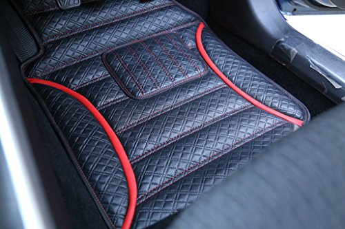 frontline anti skid barfi finish car foot mats for ford aspire-red FRONTLINE Anti Skid Barfi Finish Car Foot Mats For Ford Aspire-Red 51rMNdjWVfL