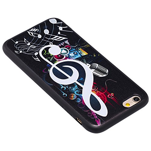 iPhone 6 Hülle, Voguecase Silikon Schutzhülle / Case / Cover / Hülle / TPU Gel Skin für Apple iPhone 6/6S 4.7(MUSIC) + Gratis Universal Eingabestift Hinweis 04