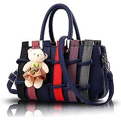 Tisdaini El bolso de la manera golpeó el hombro tejido color bolso de Messenger bag con el bolso del oso