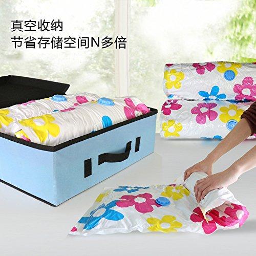 Vakuum-Platzsparer Spacesaver Premium,Vakuumverpackung Taschen Kleidung Pumpen Luftkompressionsbeutel Plastiktüten Gepäcktaschen Taschen zum Pressen von Quilts (10 Packungen)