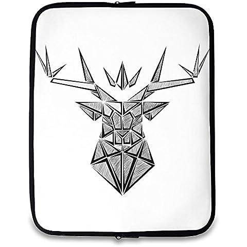 La corona cervo stampato Laptop case  Custom printed-slim fit  la borsa da viaggio ideale per mantenere Laptop safe  compatibile w/13