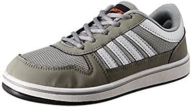 Sparx Men's Grey and Silver Synthetic Sneakers - 10 UK