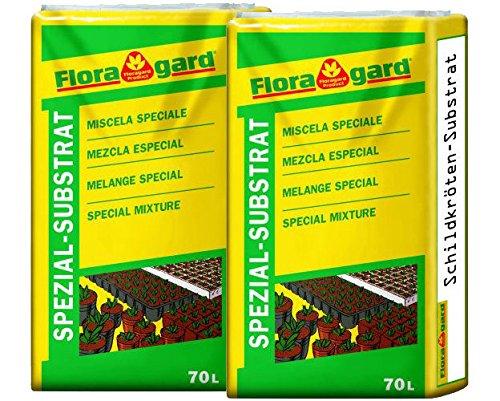 Floragard Schildkrötenerde für Terrarien 140L (2x70L)