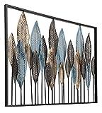 GoedYE® Metall Wandskulptur | Design Wanddeko XXL handgefertigt | Luxus Metallbild Wandrelief | 3D Metall Gemälde | Malerei | Wandbild modern | Forest