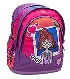 Ergonomischer Schulranzen Rucksack für 1-5 Klasse/Mädchen / für Schule, Outdoor und Reisen/Explore The City - Pink von Belmil