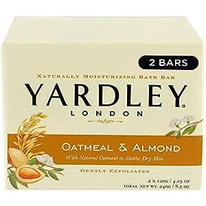 Yardley U-BB-1557 avoine et amandes Bar Soap - 2 x 4,25 oz - Savon