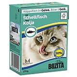 16 x Bozita Cat Tetra Recard Häppchen in Gelee Schellfisch 370g, Nassfutter, Katzenfutter