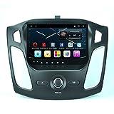 Android 6.01 Auto Stereo 9 Zoll Bildschirm GPS Navigation Musik Player für Ford Focus 2012-2015, Bluetooth 4.0, Mirrorlink, WiFi 4G, Radio, 64GB USB, Lenkrad Control + Driving Recorder ( Farbe : UI-2 )