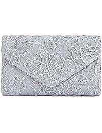 Clasichic Damen Frauen elegant Clutch Bag Abendtasche Spitze Handtasche