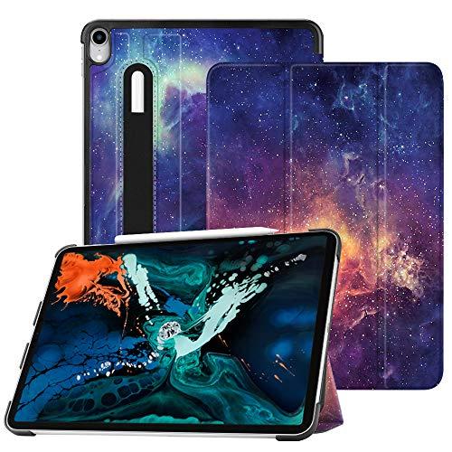 Fintie SlimShell für iPad Pro 12.9 Zoll 3. Gen 2018 (Lademodus des Apple Pencils 2. Gen Wird unterstützt) - Ultra Schlank Superleicht Ständer Schutzhülle mit Auto Schlaf/Wach Funktion, Die Galaxie - Generation 64 Ipad Gb 4.