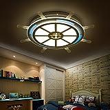 BRFVCS ceiling light Die Schlafzimmer Deckenleuchte_Piraten Ruder minimalistischen led Kinderzimmer Licht acryl Kinder Deckenleuchte Schlafzimmer Deckenleuchte, weiß, 460 mm-24 W