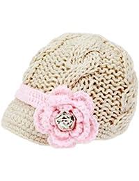 bestknit handgefertigt Neugeborene Kleinkinder Baby Mädchen Crochet Knit Krempe Cap Hat