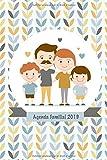 Agenda Familial 2019: Planifie, Organise et Note la Nouvelle Année 2019 dans Calendrier Familial et l'agenda avec 6 Colonnes