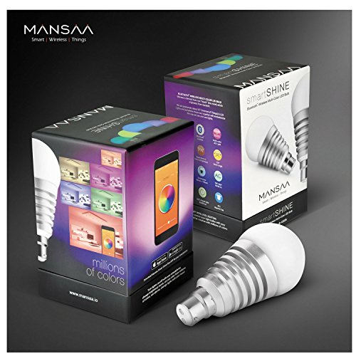 Mansaa-MAA01-9W2080H0B22-SmartShine-Base-B22-9-Watt-Bluetooth-Wireless-LED-Bulb-Silver