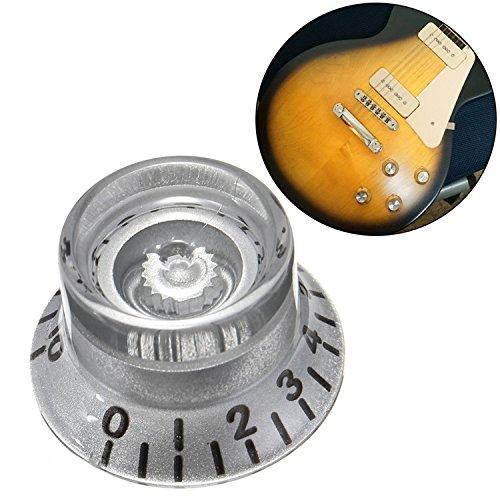 VIDOO Botones De Velocidad 1Pc Plata Guitarra Eléctrica Plástico Volumen Voz para Les Paul Guitarra