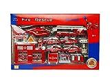 Comdaq Free Wheel Metal Fire Engine Set ...