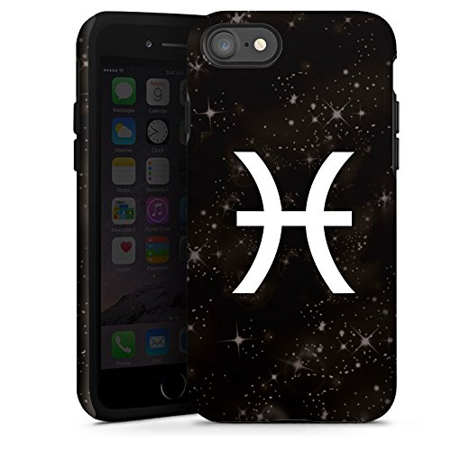 Apple iPhone X Silikon Hülle Case Schutzhülle Fische Sternzeichen Astrologie Tough Case glänzend