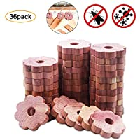 Disino 100% Natural Cedar Wood Moth Repellent,Non-Toxic Aromatic Red Blocks Clothes Protection,Cedar Flower Rings For Wardrobes,Drawers, Kid