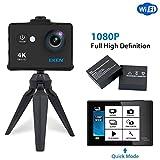 EKEN W9s Actionkamera wasserdichte Full HD Wifi Sportkamera mit 4K10fps1080P30fps / 720P3fps Video...