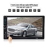 Garsent 7 Zoll 2 Din Autoradio MP5 Player, GPS Navigation MP3/MP5/FM-Player Touchscreen Multimedia Autoradio mit Bluetooth