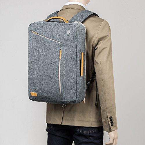 laptop rucksack 17 3 zoll evecase slim 3 in 1 umwandelbar. Black Bedroom Furniture Sets. Home Design Ideas