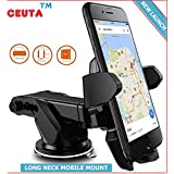 CEUTA () , Car Mobile Holder - Premium (New Generation) Universal Car Mount | 360 Degree Rotation | With Anti-vibration Pads | Anti Shake Fall Prevention | 360 Degree Rotation | With Anti-vibration Pads | Ubic Design 2018 Model Upgraded Car Stand | Mobile