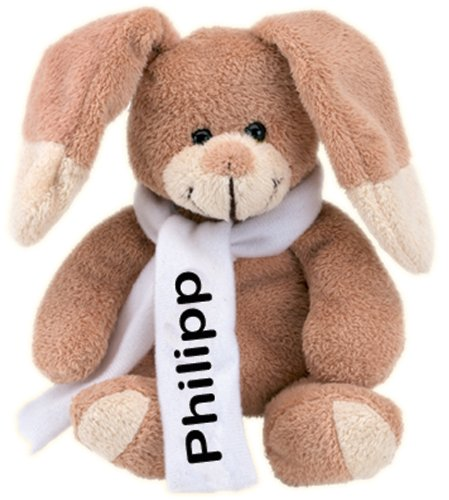 Preisvergleich Produktbild Plüschhase Philipp mit Ihrem Wunschnamen, ca. 18 cm groß