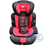 Mcc 3in1 Convertible Baby Child Car Safety Booster Seat Group 1/2/3 9-36 kg [PINK* GREY* ORANGE* RED* BLUE* SPOTTED* LEOPARD*] (Red)
