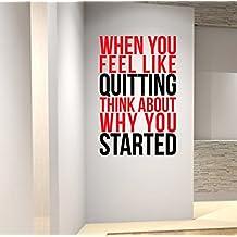 Cuando Te Sientes como dejar de fumar.... Premium motivación pared arte Decal.