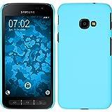PhoneNatic Case für Samsung Galaxy Xcover 4 Hülle hellblau gummiert Hard-case + 2 Schutzfolien