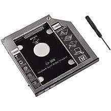 Oxsubor (TM) Bandeja de la caja del disco duro de la impulsión dura SATA para el CD / DVD-ROM del ordenador portátil de 9.5 milímetros Apple Unibody MacBook Pro Superdrive