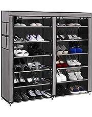 PAffy Non-Woven Fabric 12 Shelf Shoe Rack Organizer