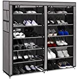 PAffy Non-Woven Fabric 12 Shelf Shoe Rack Organizer
