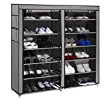 PAffy Steel and Fabric Multi-Purpose Shoe Rack, 12 Layer, Multi-Color