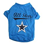 SODIAL(R) Cute little pet T shirt puppy cat apparel dog clothes best star print blue (S) SODIAL(R) Cute little pet T shirt puppy cat apparel dog clothes best star print blue (S) 51rMYP2vPQL