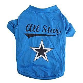 SODIAL(R) Cute little pet T shirt puppy cat apparel dog clothes best star print blue (S) 51rMYP2vPQL