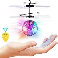 SGILE Bola Voladora RC, RC Juguete Volador, Juguete Infrarroja de Inducción Flying Flash Disco Bola Colorida LED Magia Juguetes Helicóptero de Regalo para Niños Adolescentes