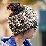 Simsly moda inverno caldo cappello fascia paraorecchie in maglia, fasce per le donne