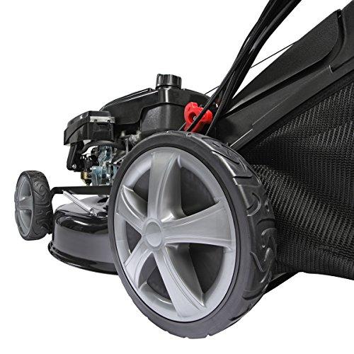 BRAST Benzin-Rasenmäher 2,5kW (3,4PS) Radantrieb Variable Antriebs-Geschwindigkeit 46cm Schnittbreite GT Getriebe Stahlgehäuse 60L Fangkorb 4-Takt Motor TÜV geprüft