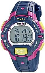 Timex T5K813 Womens Ironman Triathlon Indiglo Mid Size 30-Lap Digital Grey Dial Resin Strap Watch