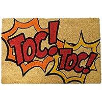Koko Doormats Felpudo con Diseño Toc, PVC, Coco, 60 x 40 cm