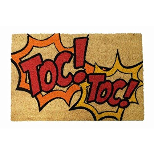 Felpudos Originales  con Diseño Toc, PVC, Coco, 60 x 40 cm