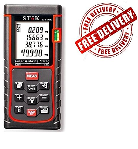 Stok Laser Distance Measuring Meter Portable Device (0. 16 To 164ft)