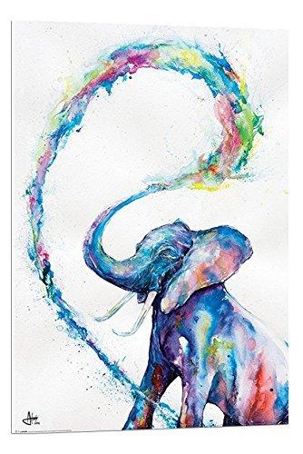 Marc Allante Elefante Poster Artistico Svolazzante Montato - 90 x 60cm (Approx 36 x 24 Pollici)