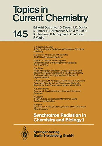 1: Synchrotron Radiation in Chemistry and Biology I (Topics in Current Chemistry, Band 145)